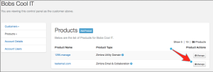 Product management in the portal